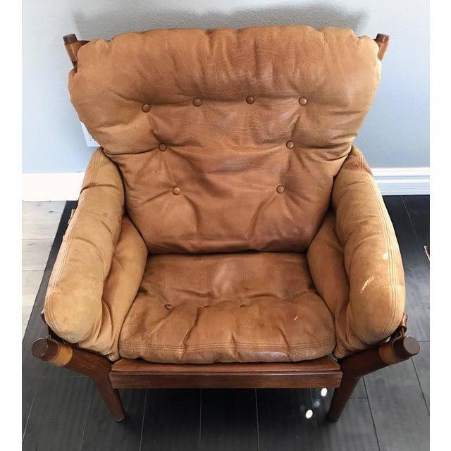1960s 1960s John Mortensen for Magnus Olesen Model 4521 Lounge Chair For Sale - Image 5 of 10