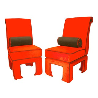 Ming - James Mont Style Side Chairs - A Pair For Sale