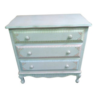 Beautiful 3 Drawer Painted Dresser For Sale