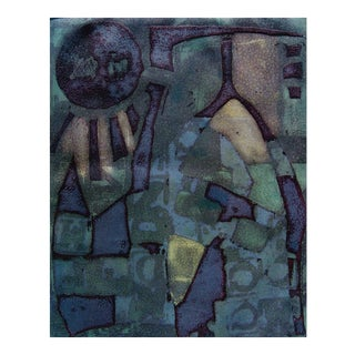 Modernist Abstract in Blues