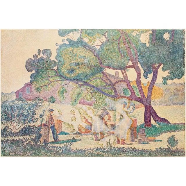 "Green 1947 Henri-Edmond Cross, Original ""The Boilers of Cru"" Parisian Lithograph For Sale - Image 8 of 8"