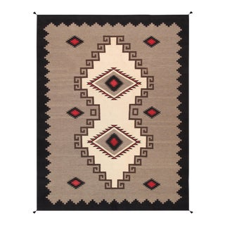 "Pasargad Navajo Style Hand Woven Wool Rug - 9' 2"" X 11'11"" For Sale"