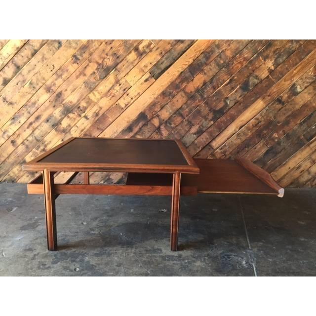 Mid Century Walnut Brown Saltman Coffee Table - Image 4 of 7