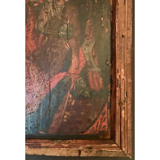 Gold Leaf 17th Century Antique Russian Orthodox Painting For Sale - Image 7 of 13