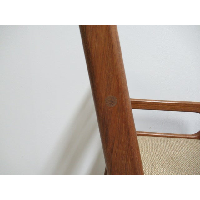 Brown Danish Modern Teak Ladder Back Bar Counter Arm Stools - a Pair For Sale - Image 8 of 12