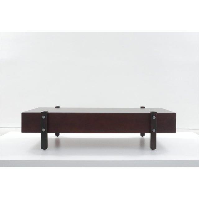 1960s Sergio Rodrigues for Aros, Eleh Rosewood Bench C. 1965 For Sale - Image 5 of 5