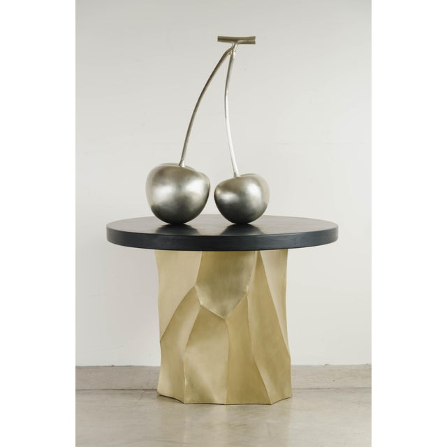 2010s Cherries in Hand Repousse White Bronze by Robert Kuo, Limited Edition For Sale - Image 5 of 6