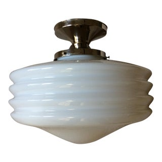 1930s Art Deco Semi-Flush Ceiling Fixture For Sale