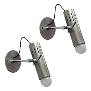 Pair of Alain Richard Adjustable Pivoting Sconces for Disderot For Sale