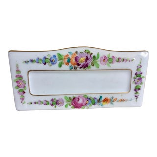 Dresden Porcelain Place Card Holders - Set of 12 For Sale