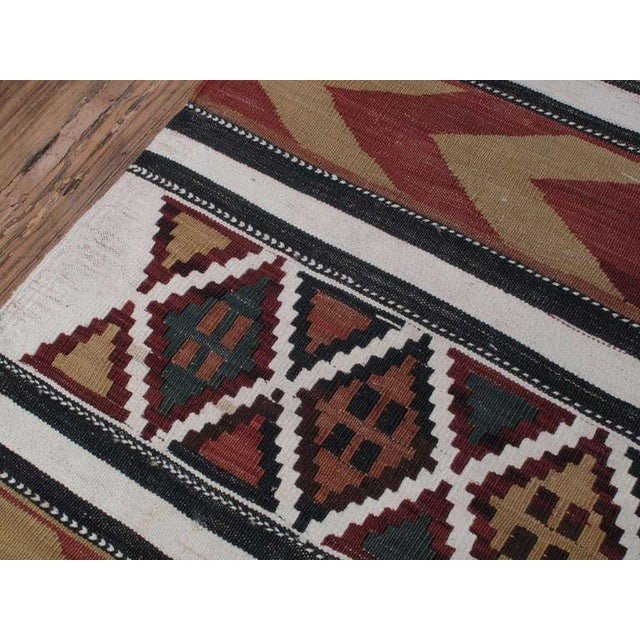 Traditional Antique Shahsavan Kilim For Sale - Image 3 of 6