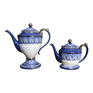 Blue & White Porcelain Teapots - A Pair