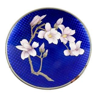 Japanese Cloisonne Magnolia Dish