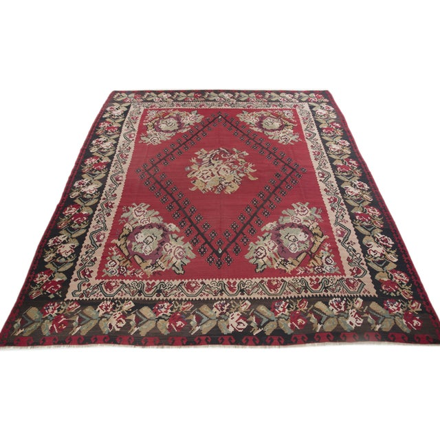 "Anatolia Turkish Kilim Large Rug - 9'6"" X 10'8"" - Image 4 of 10"