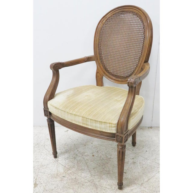 Louis XVI Style Caned Back Dining Chairs - Set of 6 - Image 2 of 8