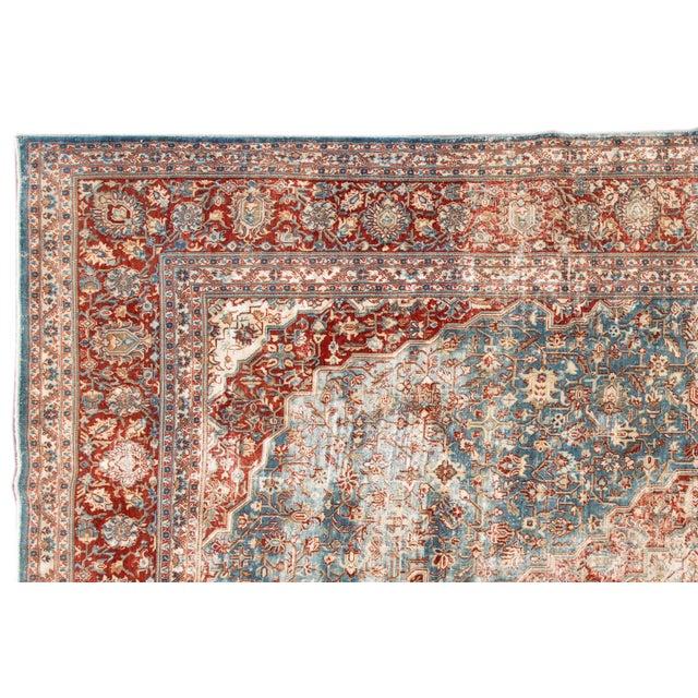 "Apadana-Antique Persian Distressed Rug, 8'5"" X 12'0"" For Sale - Image 4 of 9"