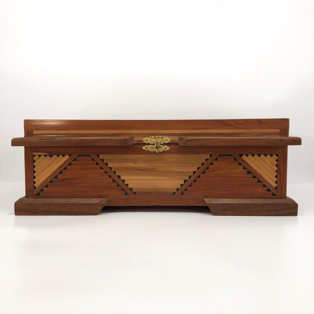Mid 20th Century Mid-Century Tramp Art Jewelry Box For Sale - Image 5 of 13