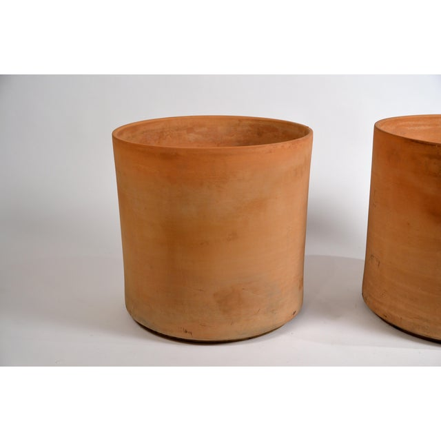 1960s Large Unglazed Architectural Terracotta Planters by Gainey Ceramics - a Pair For Sale - Image 5 of 10