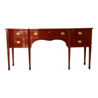 Kindel Furniture Winterthur Inlaid Mahogany Sideboard Buffet For Sale