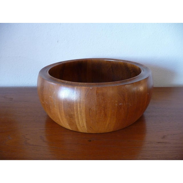 1960s Danish Modern Digsmed Teak Bowls - a Pair For Sale In Los Angeles - Image 6 of 10