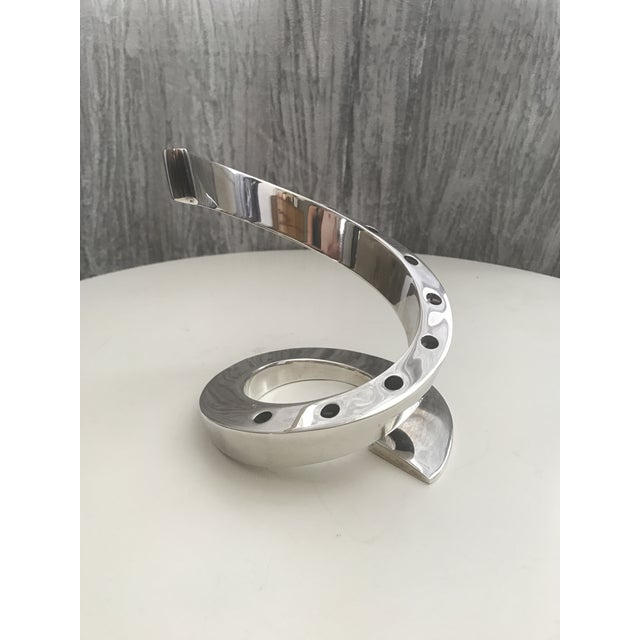 Mid-Century Dansk Spiral Chrome Candle Holder - Image 2 of 4