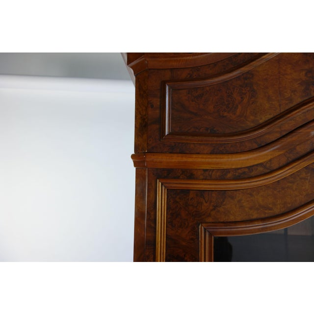 Traditional Glass Front Cabinet with Burl Veneers - Image 7 of 7
