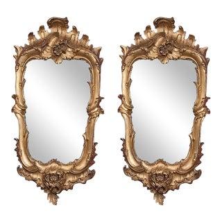 Gilt Florentine Mirrors - a Pair For Sale