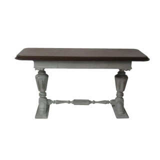 Jacobean Style Gustavian Grey Refectory Console Table For Sale