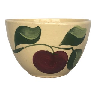 Vintage Watt Pottery Apple Mixing Bowl For Sale