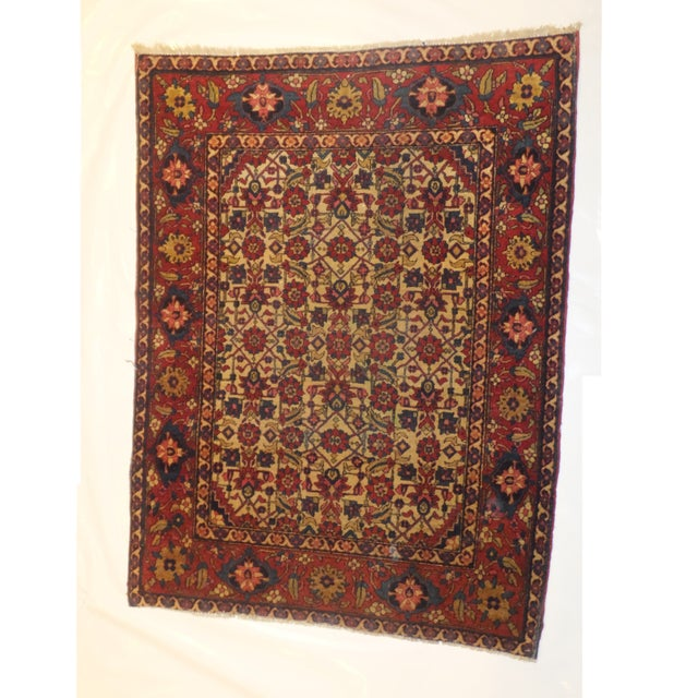 Antique Persian Isfahan Rug - 4' x 3' - Image 2 of 5