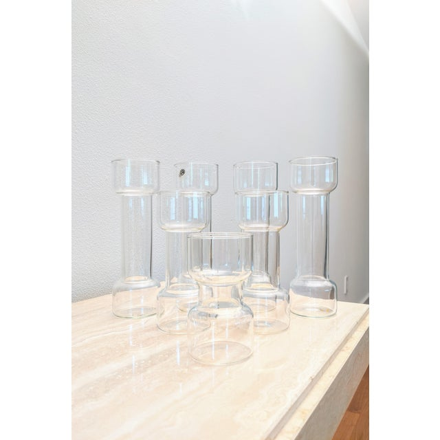 Minimalist Modernist Pyrex Vases by Creative Glass - Set of 7 For Sale In Dallas - Image 6 of 9