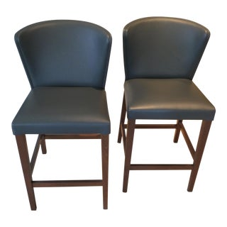 Modern Crate & Barrel Counter Stools- A Pair For Sale