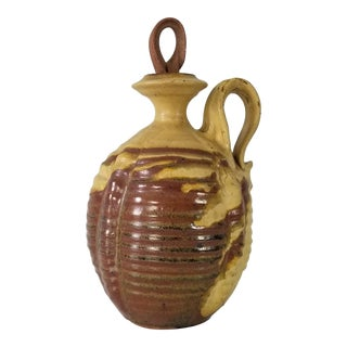 1980s Bill Sol Mid- Century Rustic Texture Gourd Vase. For Sale