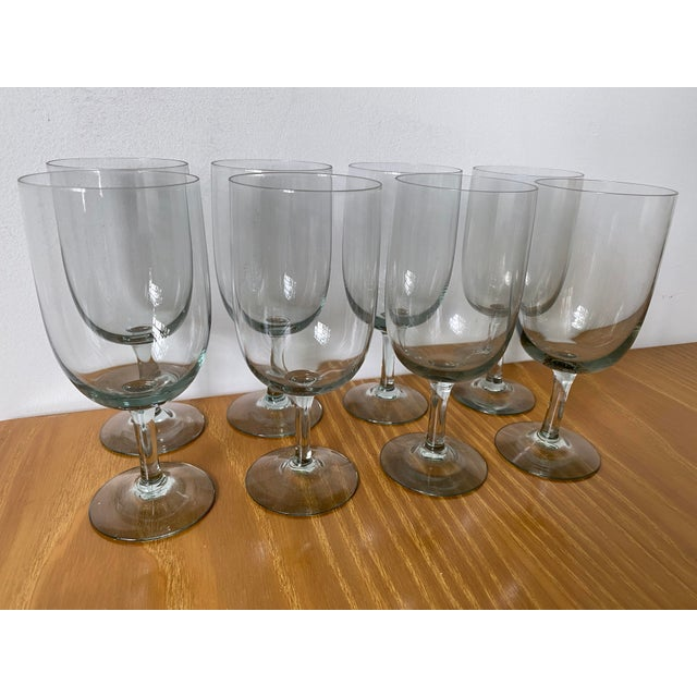 This is for a mid century modern set of 8 of what I believe to be water glasses. They are manufactured by Holmegaard in...