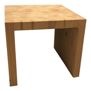 Local Artisan Hand-Made Solid Wood Side Table For Sale