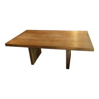 1960s Americana Bamboo Dining Table For Sale