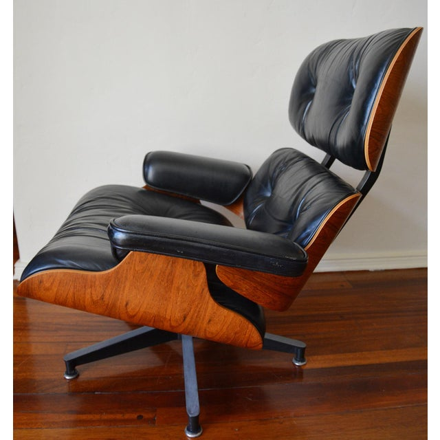 Vintage Herman Miller Rosewood Eames Lounge Chair & Ottoman For Sale In Los Angeles - Image 6 of 11