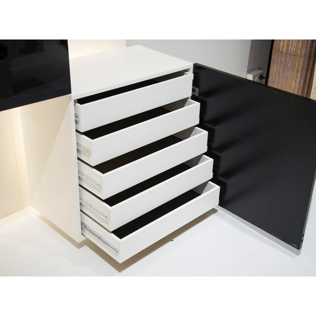 1970s Important Black and White Bookcase, by Acerbis Int, Circa 1970 For Sale - Image 5 of 11