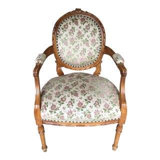 Vintage Floral Print Chair For Sale
