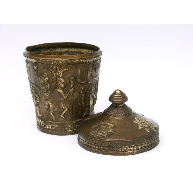 Decorative Indonesian Bronze Jar - Image 4 of 6