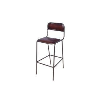 Veryl Leather Bar Chair For Sale