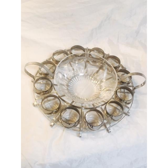 14-Piece Mid-Century Glass Punch Bowl Set - Image 2 of 5