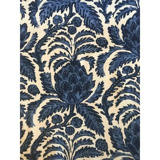 Cottage Brunschwig & Fils Bromelia Resist Blue Fabric - 2 Yards For Sale