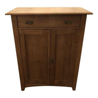 1960s Rustic Pine Cupboard For Sale