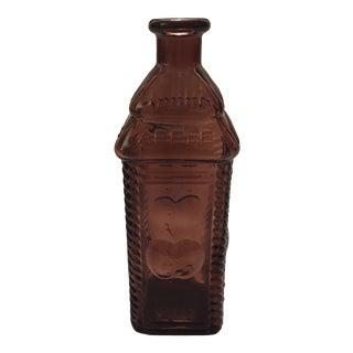 Antique Berring's Apple Bitter Amethyst Glass Bottle, Philadelphia For Sale
