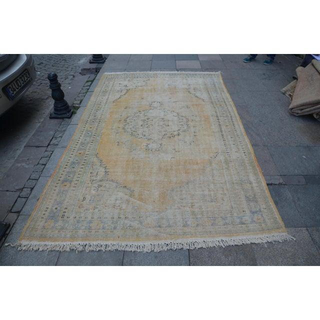 Turkish handmade handwoven vintage anatolian OUSHAK rug. We collect old vintage antique rugs from Anatolia, Turkey. We...