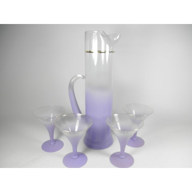 Lavender Martini Pitcher & Glasses - Set of 5 - Image 2 of 5