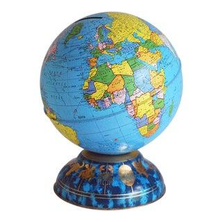 1970s Ohio Art Tin Zodiac Globe Bank