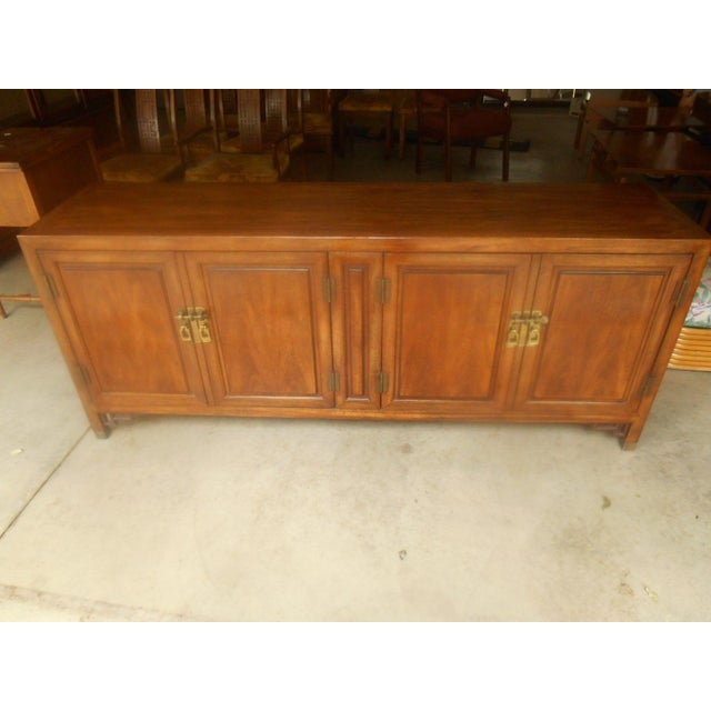 Mid-Century Maple and Brass Credenza by Century - Image 4 of 10