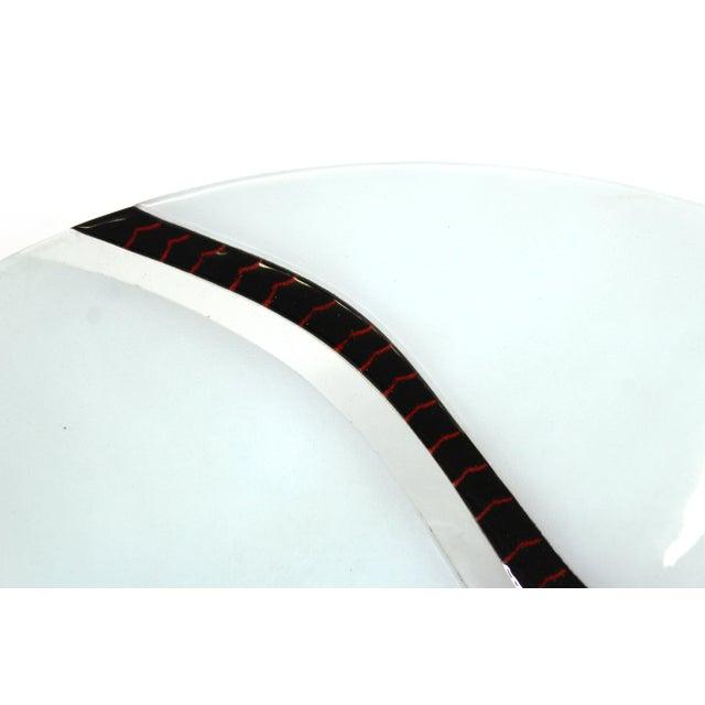 Postmodern Richard Knopf Postmodern Glass Charger Plate For Sale - Image 3 of 10